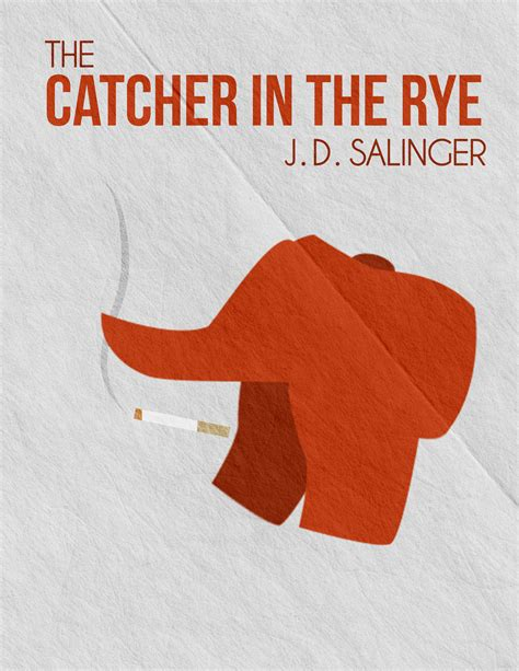 the catcher in the minimalist book poster catcher in the rye by seanelynn on