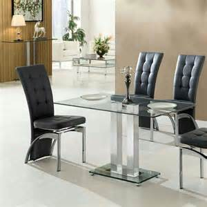 Small Rectangular Glass Dining Table Jet Small Dining Table Rectangular In Clear Glass 27422