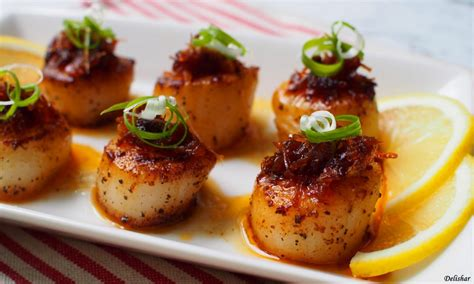 pan seared scallops with xo sauce delishar singapore