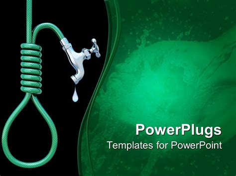 Powerpoint Template Water Pipe With Tap Giving The Powerplugs Templates For Powerpoint