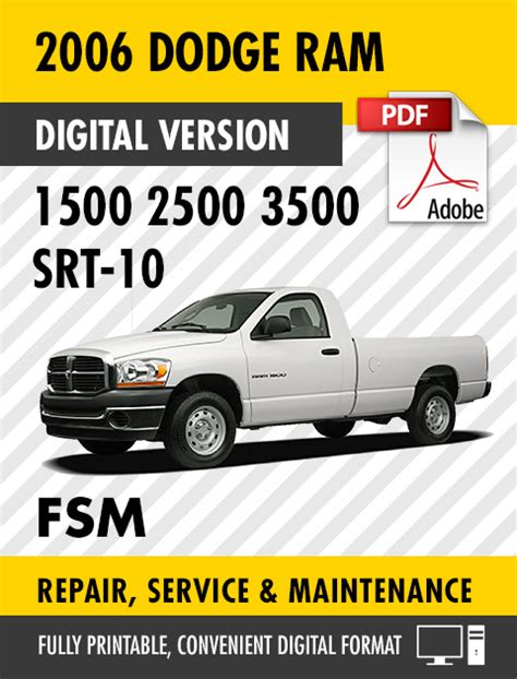 how to download repair manuals 1992 dodge ram van b250 engine control 2006 dodge ram trucks 1500 2500 3500 srt 10 factory repair service manual ebay