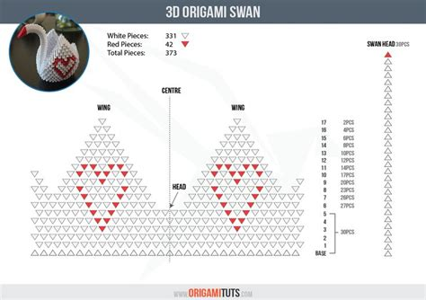 3d Origami Swan Diagram - 1000 ideas about origami swan on 3d origami