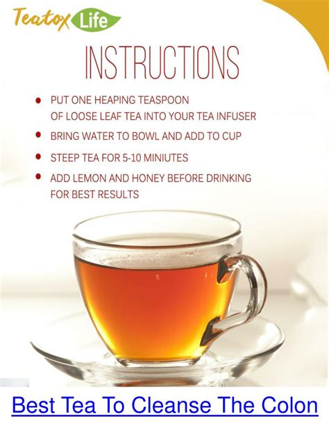 What Is The Best Product To Detox Your by Ppt Herbal Tea For Colon Cleansing Powerpoint