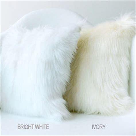 White Fluffy Throw Pillows Shop White Fur Throw On Wanelo