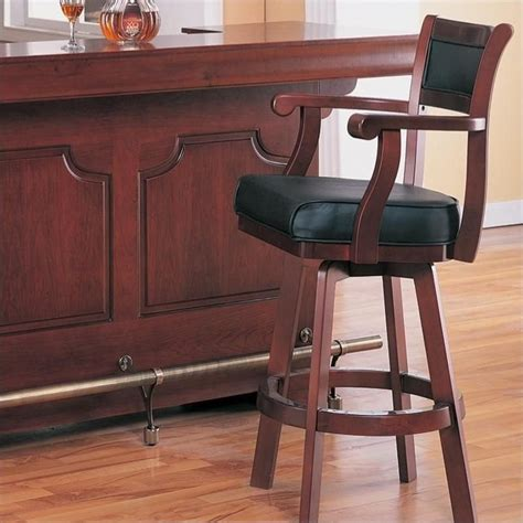 leather back bar stools coaster lambert 30 quot leather back swivel bar stool in