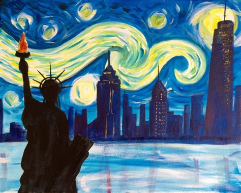 paint nite york events almost sold out paint starry new york 4 july