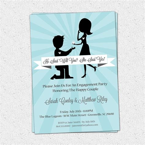engagement party invitation templates engagement