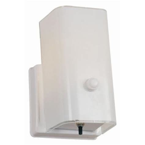 Home Depot Wall Sconces With Switch design house 1 light white sconce and switch 501130 the home depot