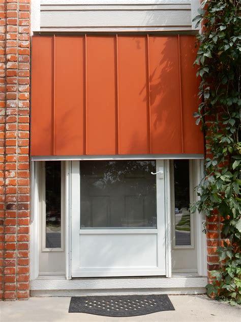 window awnings menards standing seam awning austin standing seam door awning