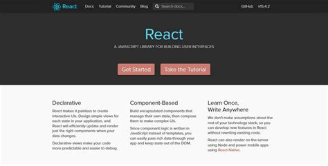 react charity home react getting started with react js hongkiat