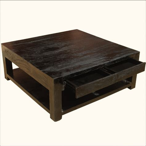 Coffee Tables by Mission Mango Hardwood Square Espresso Coffee Table