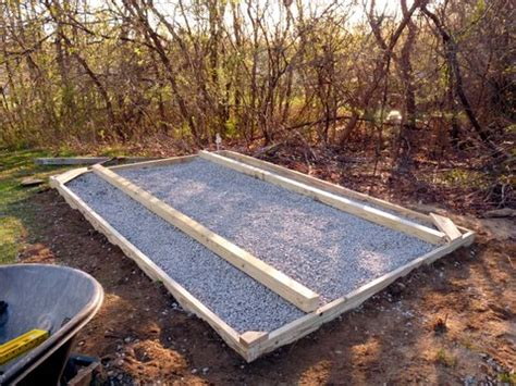 Shed Foundation Gravel by Building A Shed Base With Gravel Step For Build Shed
