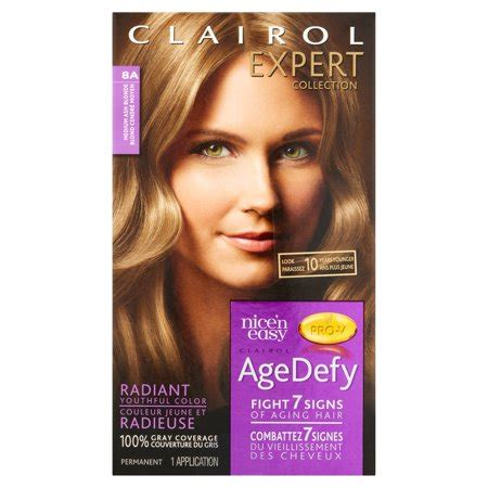age defy hair color clairol expert collection age defy hair color 8a