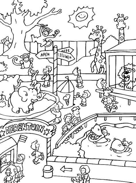 color zoo free printable zoo coloring pages for