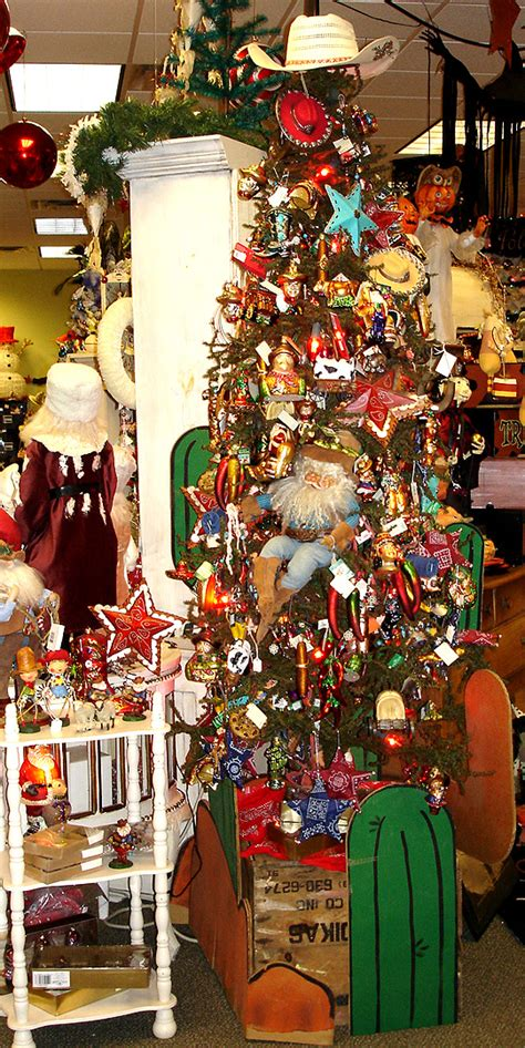 decorated cowboy tree cowboy and western theme ornaments and figures