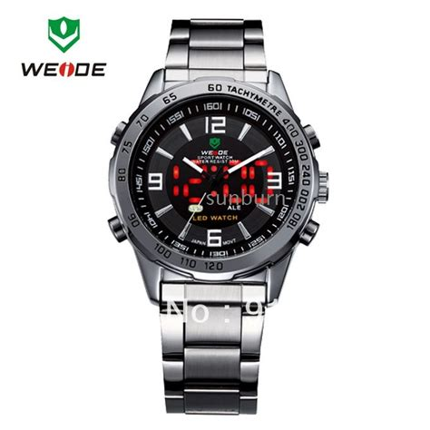 Led Watches Aa W001 Limited 30 meters water resistant casual s led back wholesale free shipping 30 meters water