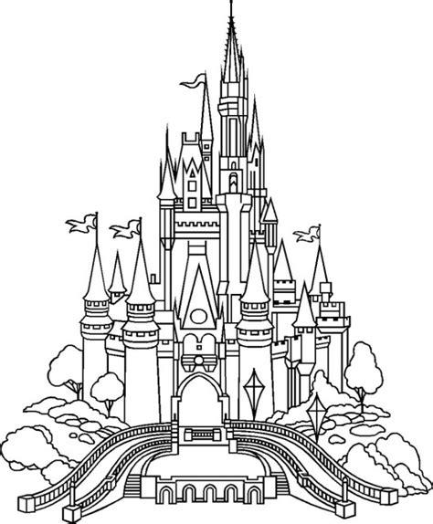 disney castle free printable disney coloring pages disney castle coloring page bring the magical world of