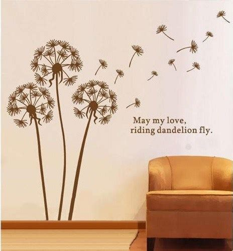 wall decal for living room dandelion dandelions floral flowers flower vinyl wall decal sticker living room bed room art
