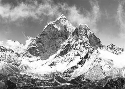 Black Wall Murals wall mural black and white mountains photo wallpaper