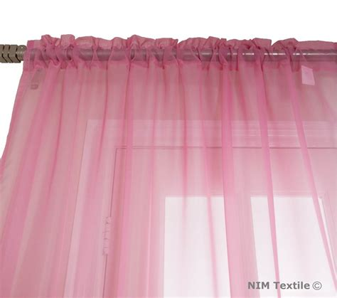 pink sheer voile curtains
