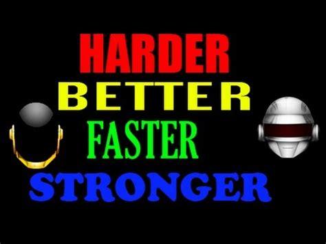 harder better faster stronger lyrics uploaded by juliaeditz
