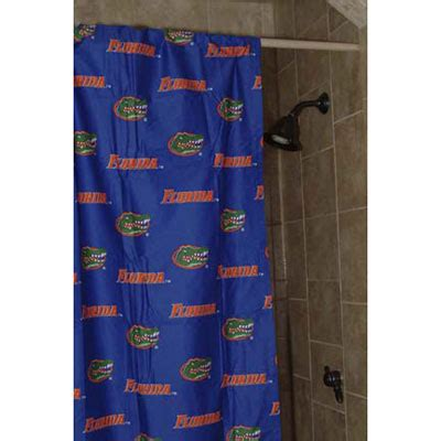 florida gators shower curtain florida gators 100 cotton sateen shower curtain blue