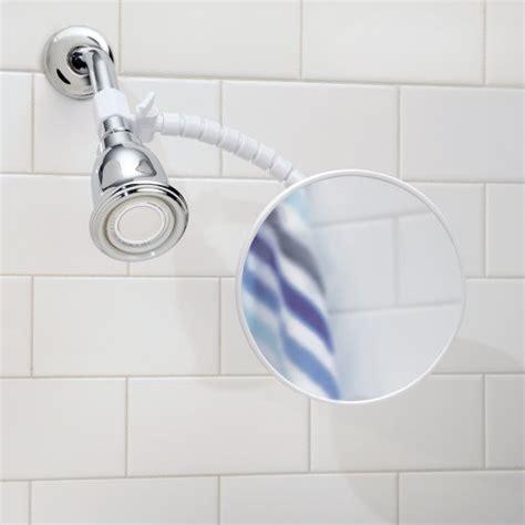 suction bathroom mirror interdesign suction fog free shower shaving mirror for