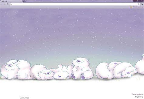 christmas themes for google chrome free download happy snow bears christmas theme for google chrome
