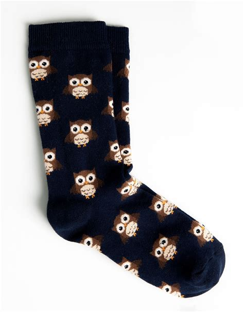 pattern for owl socks pull bear owl pattern socks in blue navy lyst