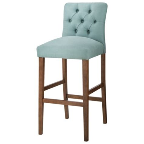 Blue Tufted Bar Stools by Brookline Tufted Bar Stool Everything Turquoise