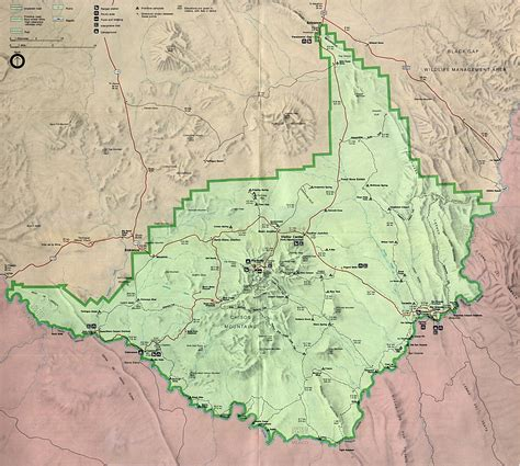 big bend national park texas map united states national parks and monuments maps perry casta 241 eda map collection ut library