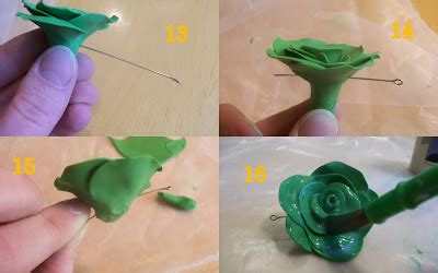 How To Make Glaze Paper Flowers - jengerbread creations sculpey flowers and necklace tutorial