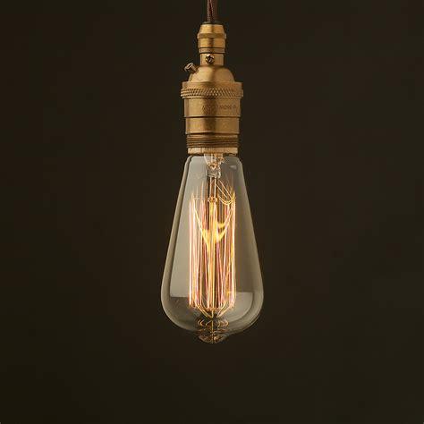 Large Light Bulb Pendant Edison Style Light Bulb E26 Brass Pendant