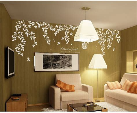 classic of forest wall stickers home decorating photo