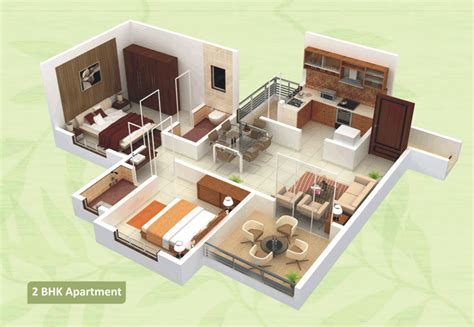 2 bhk flat design floor plans green city hadapsar pune arihant
