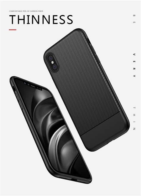 Softcase Remax For Iphone 7 solid protective tpu carbon fiber softcase for iphone
