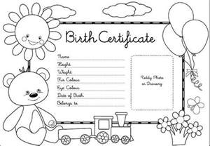Teddy Bear Birth Certificate Sketch Coloring Page sketch template