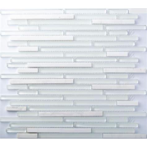 white glass mosaic tile backsplash tst glass tiles white and blue mosaic glass tile