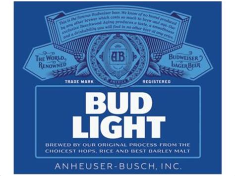 Bud Light Label by New Look I The Crest Bud Light By Ian Brignell