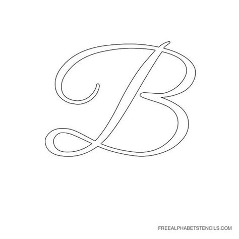 fancy letter b stencils alphabet stencils in