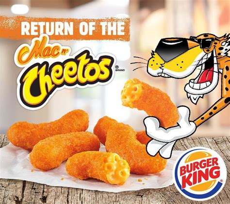 Mac N Cheetos mac n cheetos are back at burger king for a cheesy 2