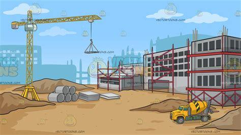 site clipart a construction site background clipart vector