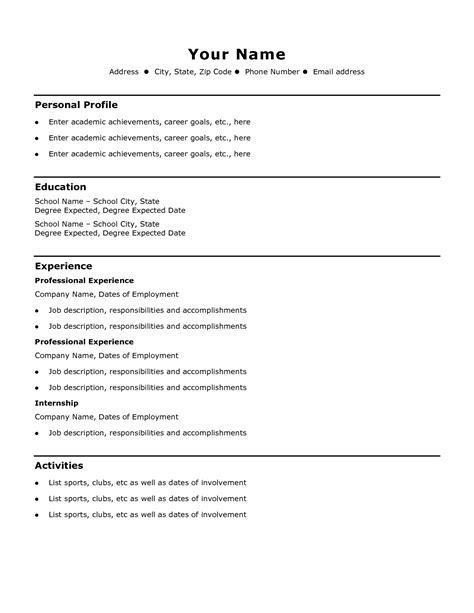 Easy Resume by Easy Resume Template Health Symptoms And Cure