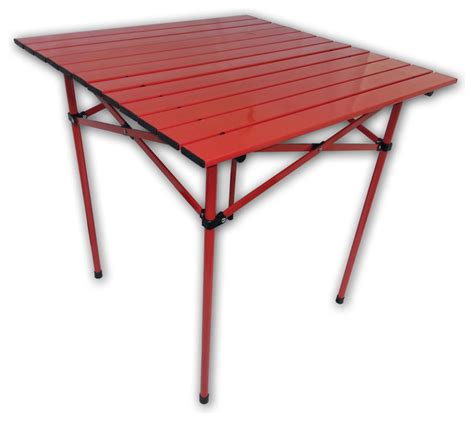 portable dining table tall aluminum portable table in a bag red contemporary
