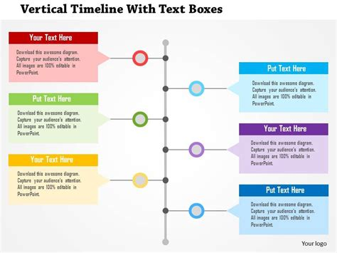 Vertical Timeline Template Template Business How To Add Template In Powerpoint