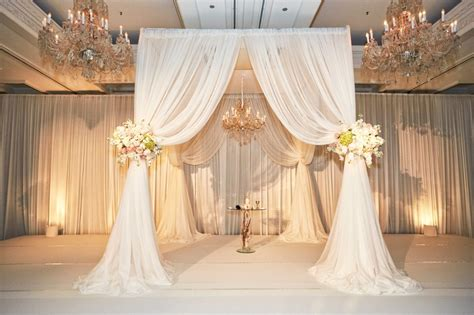 drapery wedding ceremony d 233 cor photos white drapery chuppah chandelier
