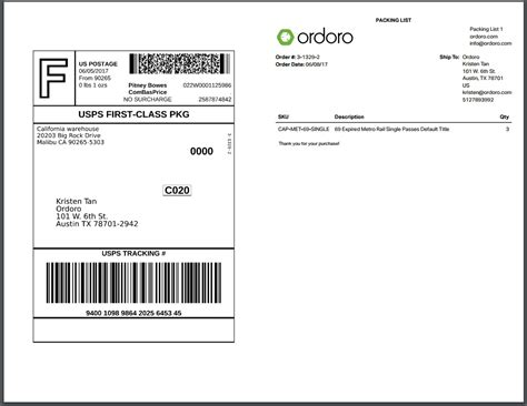 Packaging Label by Ordoro How To Print A Label And Packing List Together Or
