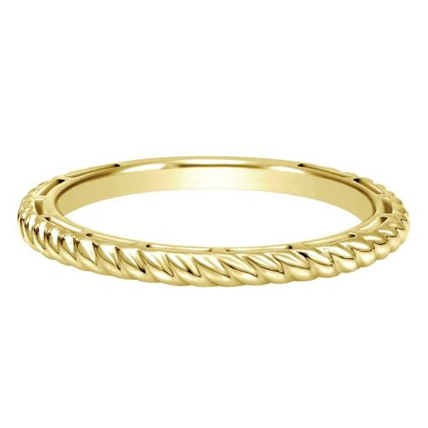 14k yellow gold stackable ring sissy s log cabin