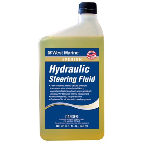 marine hydraulic steering oil west marine premium hydraulic steering fluid 32oz west