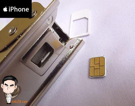 membuat pemotong sim card nano sim cutter untuk iphone 5 dan ipad mini